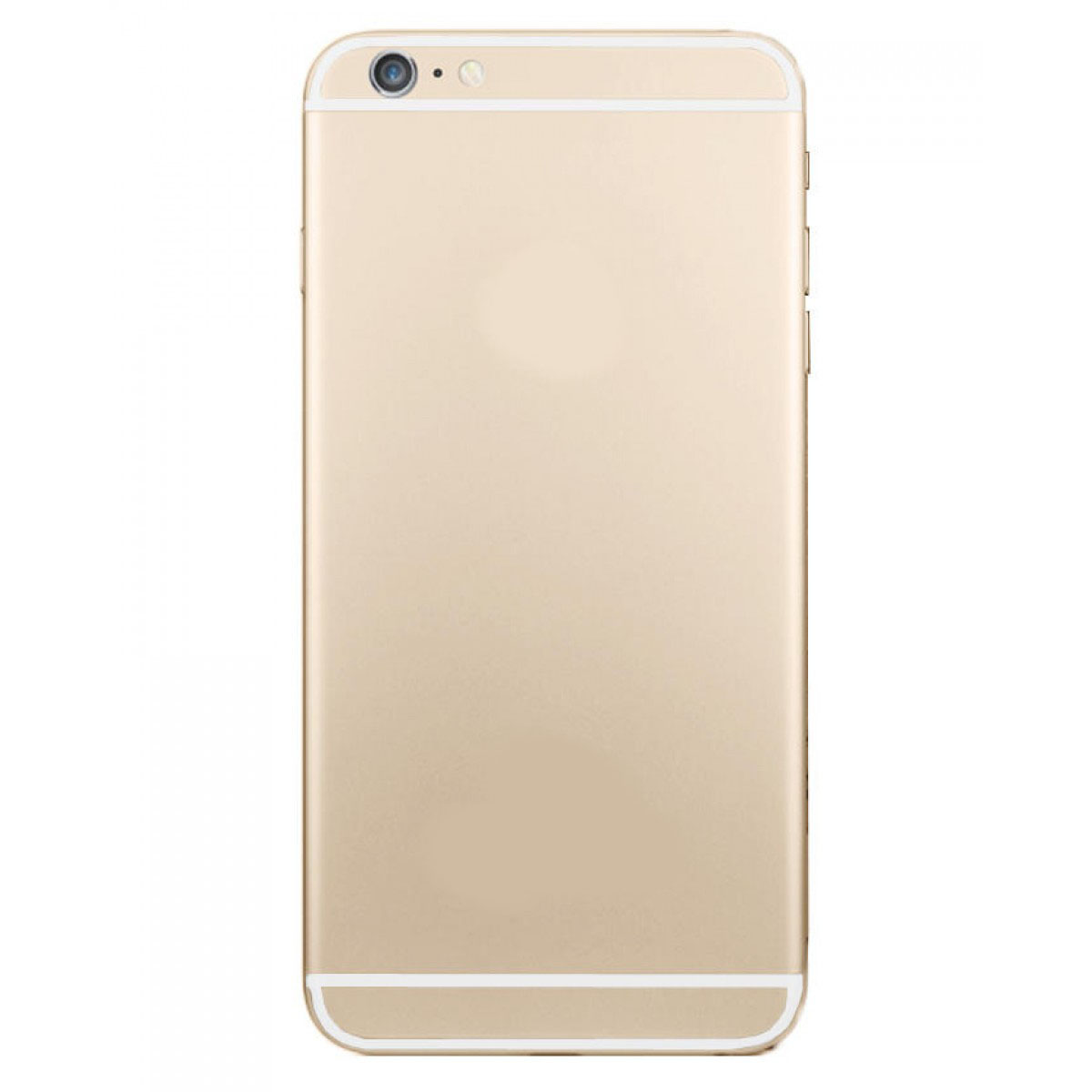 back cover apple iphone 6 gold without logo fixmobile store. Black Bedroom Furniture Sets. Home Design Ideas