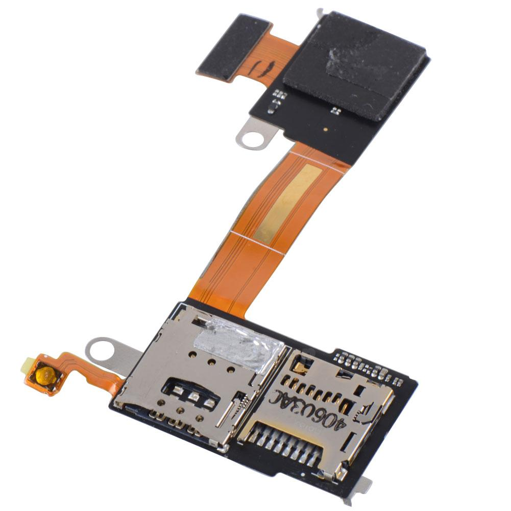 Sim And Micro Sd Cards Flex Cable For Sony Xperia M2 D2303 D2305