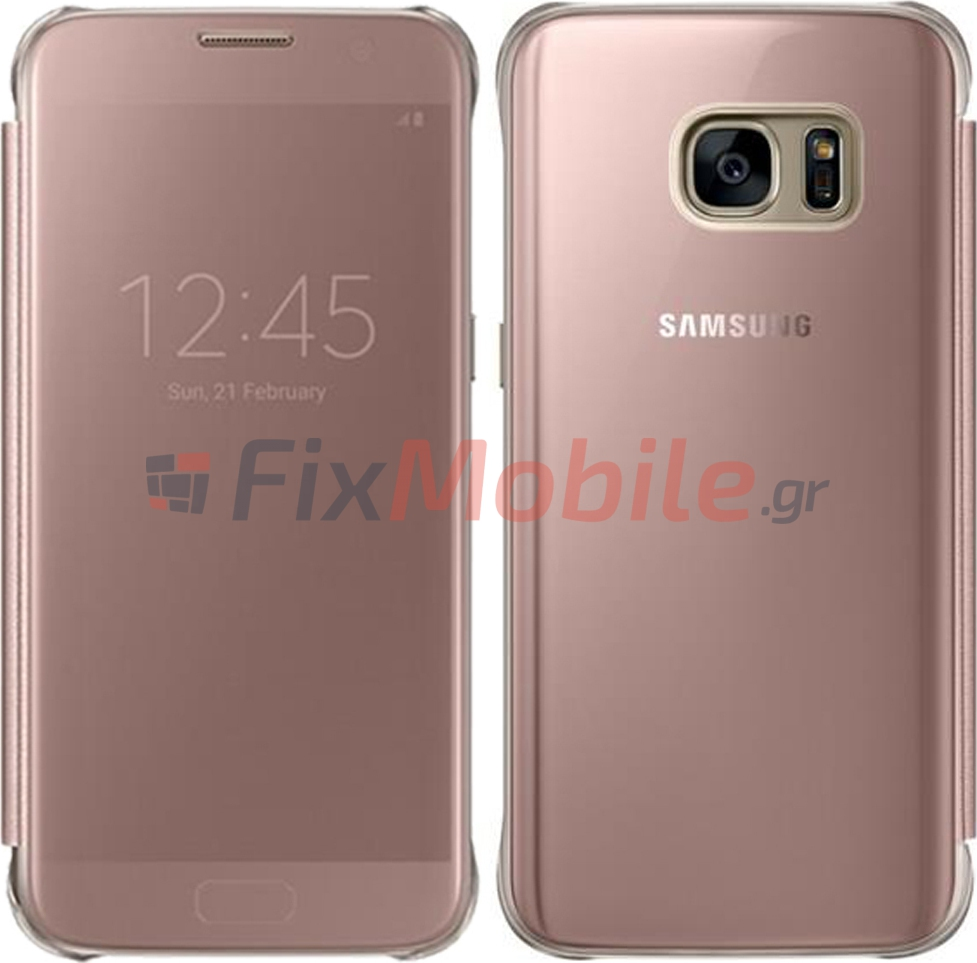 new styles b1b6f 71704 Case Samsung Clear View Cover EF-ZG935CZE Galaxy S7 Edge G935 Rose ...