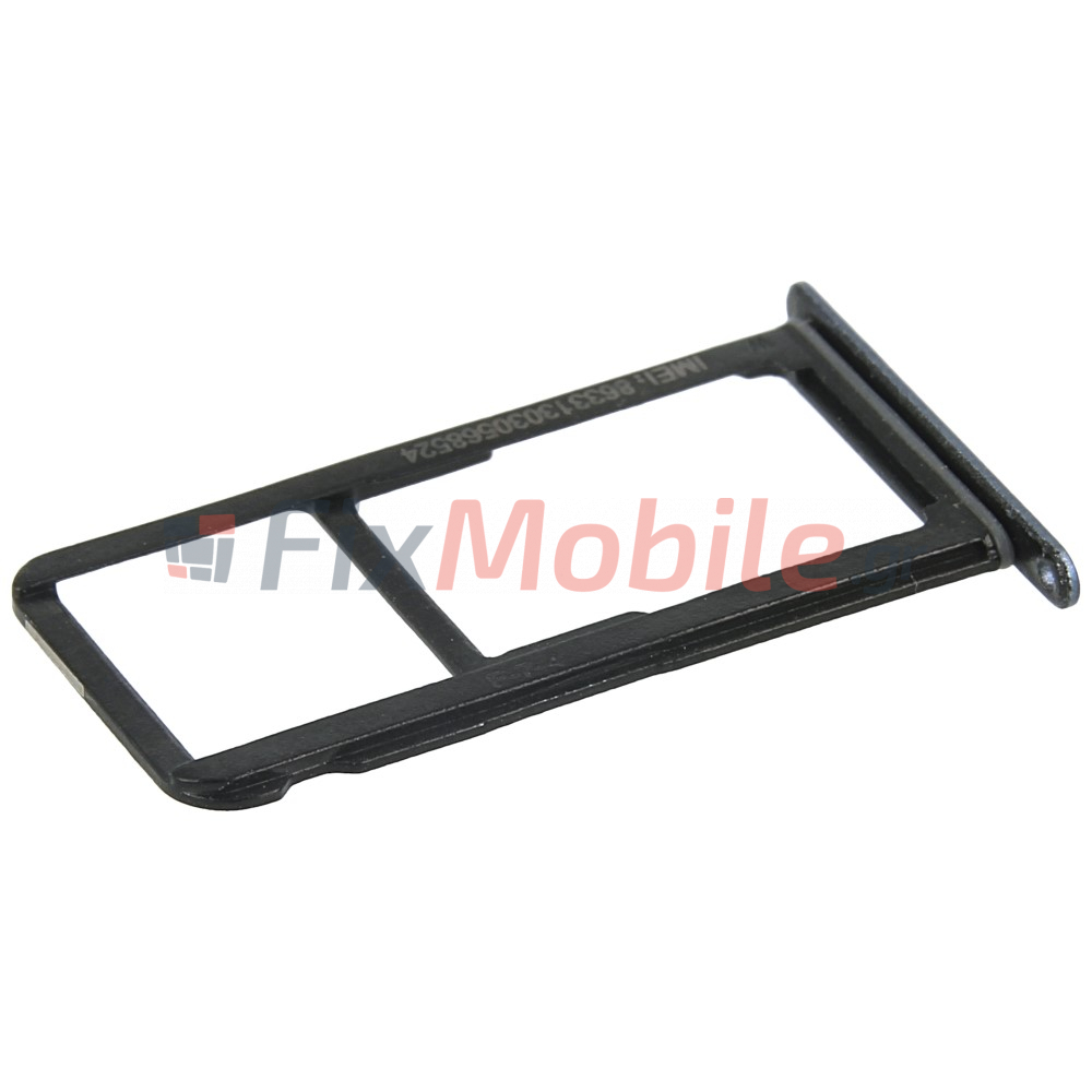 Huawei P10 Sim Karte.Sim Card Tray Huawei P10 Lite Black Fixmobile